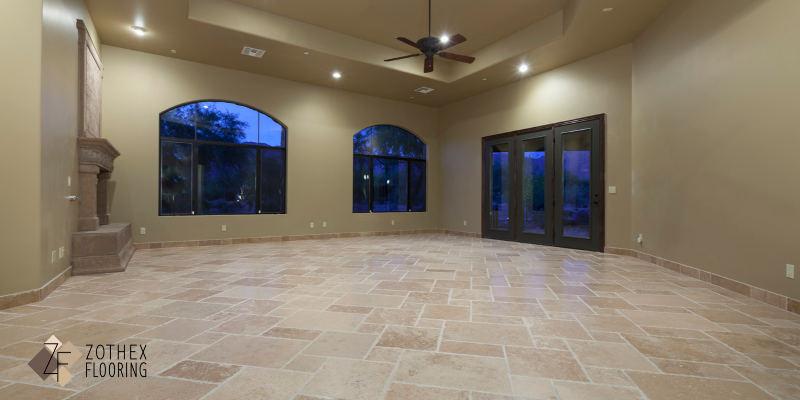 ceramic floor without grout