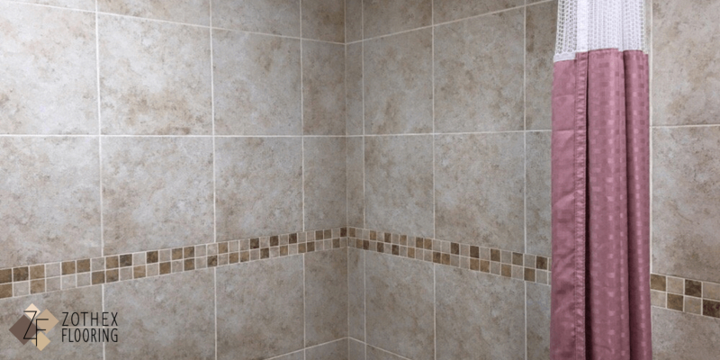 Shower and floors done in Tile at local senior home